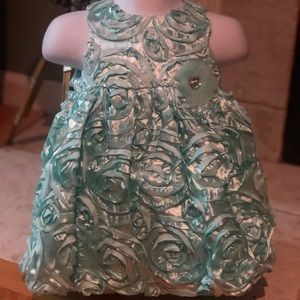 Infant Rose Dress with Headband &  bottoms